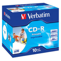 CD-R VERBATIM DTL+ Printable 700MB 52X 10ks/bal.*AZO