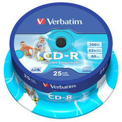 CD-R VERBATIM DTL+ Printable 700MB 52X 25ks/cake*AZO