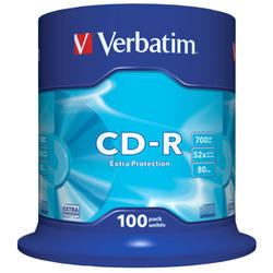CD-R VERBATIM DTL 700MB 52X 100ks/cake*Extra protection