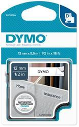 páska DYMO 16959 D1 Black On White Permanent Polyester Tape (12mm)