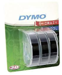 páska DYMO 3D Black Tape (9mm) 3ks