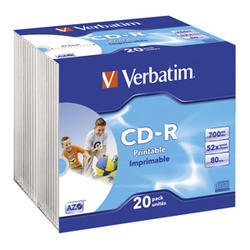 CD-R VERBATIM AZO Wide printable  Slim 20ks/bal