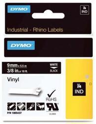 páska DYMO 1805437 PROFI D1 RHINO White On Black Vinyl Tape (9mm)
