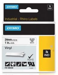 páska DYMO 1805430 PROFI D1 RHINO Black On White Vinyl Tape (24mm)