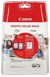 kazeta CANON PG-545 XL black + CL-546 XL color MG2450/MG2550 + GP501 10x15