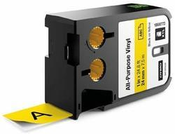 páska DYMO XTL 1868773 Black On Yellow All-Purpose Vinyl Tape (24mm)