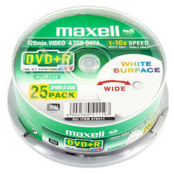 DVD+R MAXELL Printable White 4,7GB 16X 25ks/cake