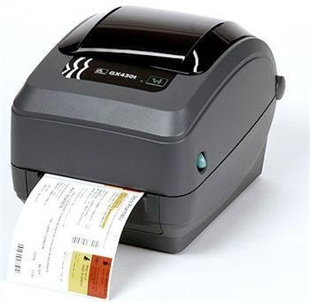ZEBRA TT PRINTER GX430T; 300DPI, EURO AND UK CORD, EPL2, ZPL II, USB, SERIAL, CENTRONICS PARALLEL, DISPENSER (PEELER)