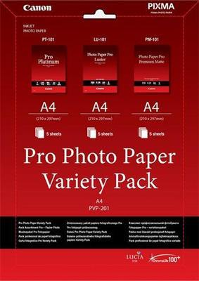 Canon Papier Pro Variety Pack PVP-201 A4 5+5+5ks (PVP201)