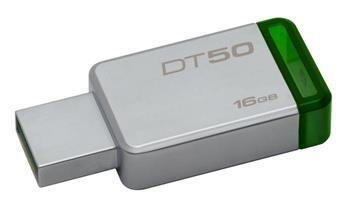 USB kľúč Kingston 16GB USB 3.0 DataTraveler 50 (Kovový/Zelený)