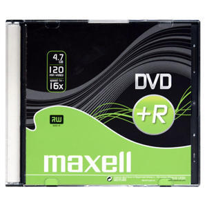 DVD+R MAXELL 4,7GB 16X Slim box 1ks