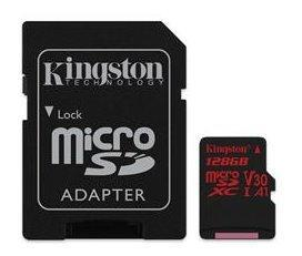 Pamäťová karta Kingston Canvas Select microSDXC 128GB Class 10 UHS-I 80/10 MB/s (+ adaptér)